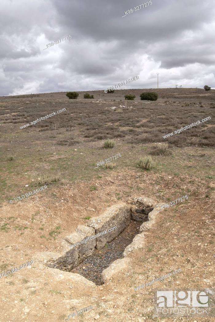 Stock Photo: necrópolis, parque arqueológico de Segóbriga, Saelices, Cuenca, Castilla-La Mancha, Spain.
