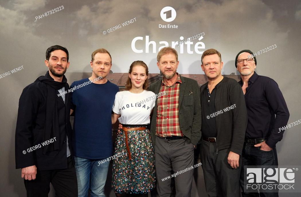 Director Soenke Wortmann (4.f.L) and actors Christoph Bach (L-R ...