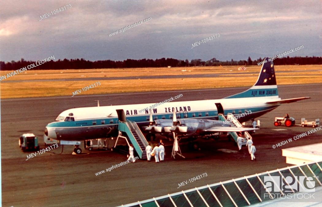 Lockheed L-188 Electra-Air New Zealand, Stock Photo, Picture