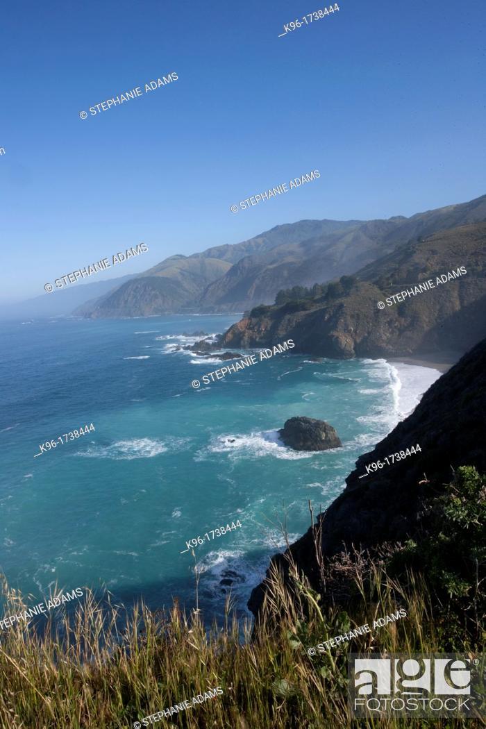 Stock Photo: California Coastline along Pacific Coast Highway.