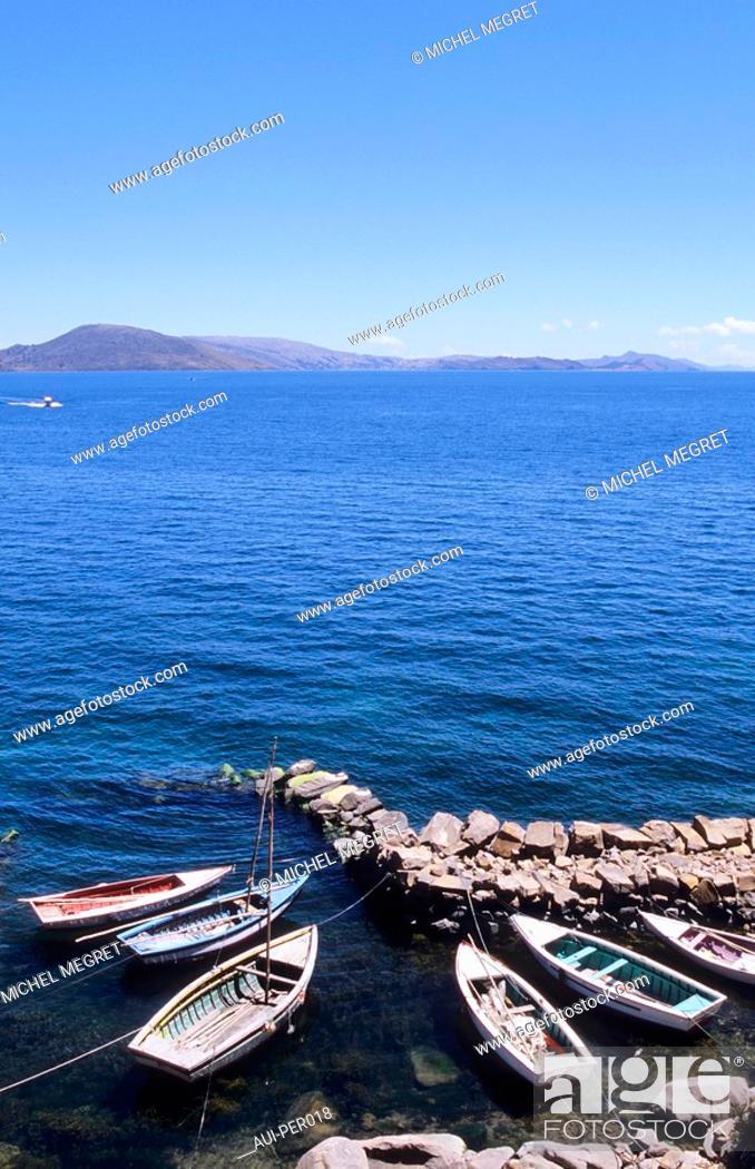 Stock Photo: Peru - Titicaca Lake - Taquile Island.