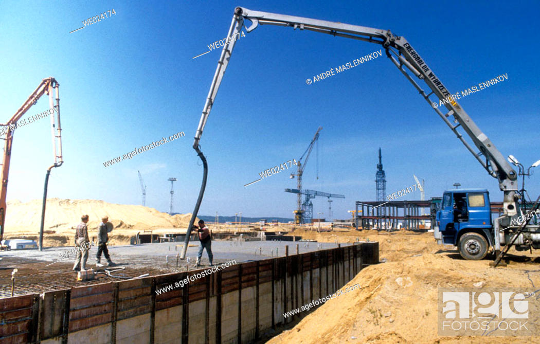 Stock Photo: Nuclear power plant construction near Gdansk, Poland.