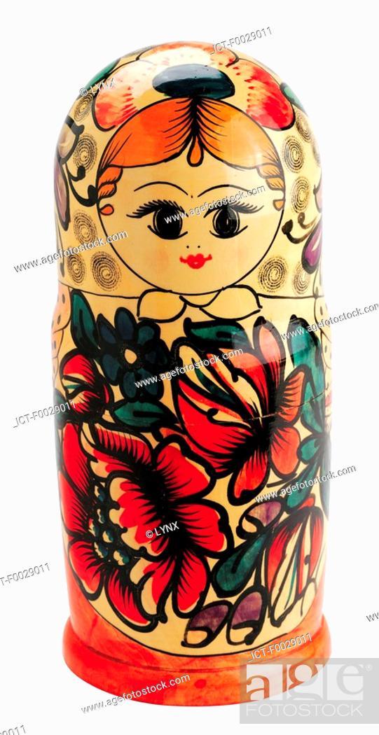 Stock Photo: World symbols: Russian dolls.