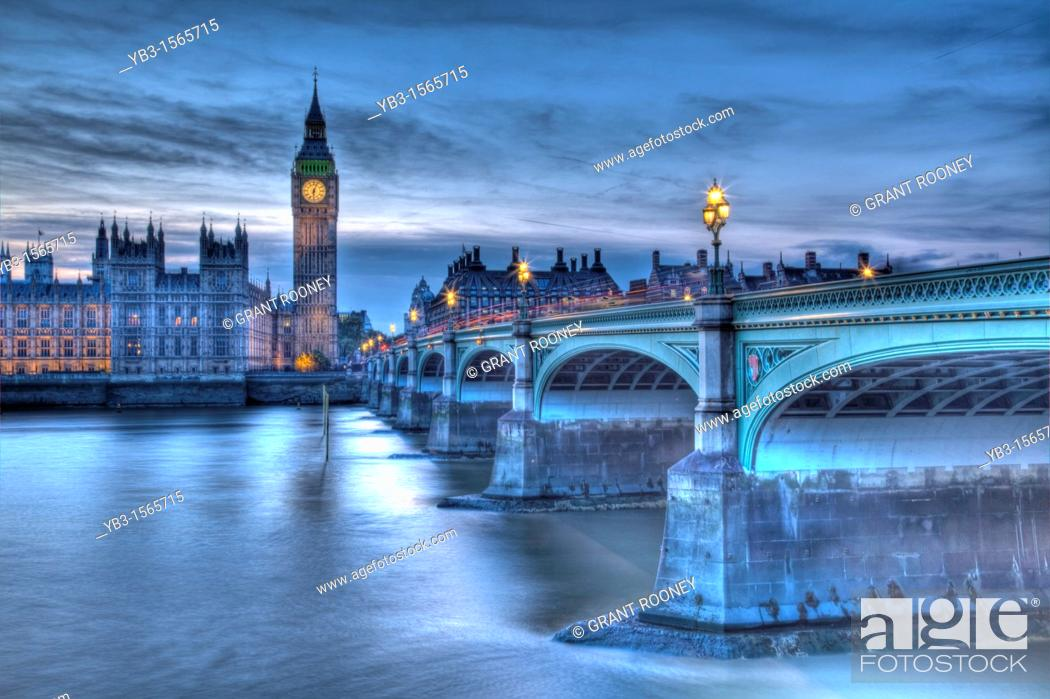 Stock Photo: The Houses of Parliament Palace of Westminster London, England.