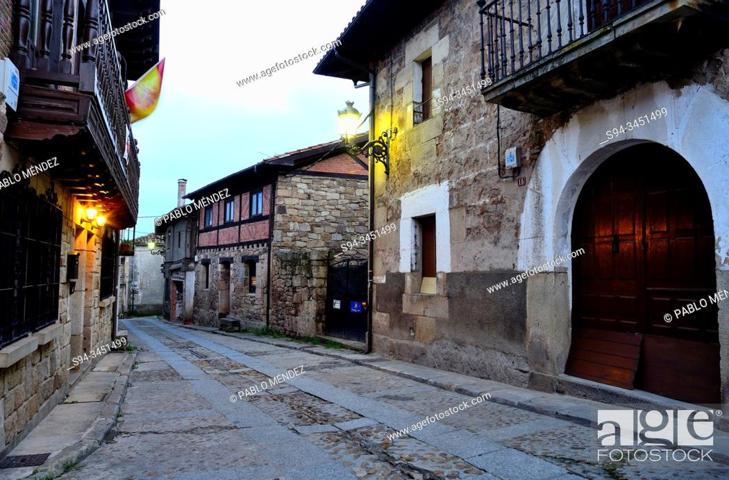 Stock Photo: Rustic village. Vinuesa, Soria, Spain.