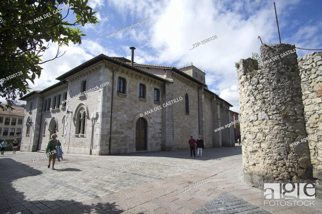 Stock Photo: Llanes Asturias Spain Llanes is one of the most beautiful towns in Spain. Gastanaga palace.