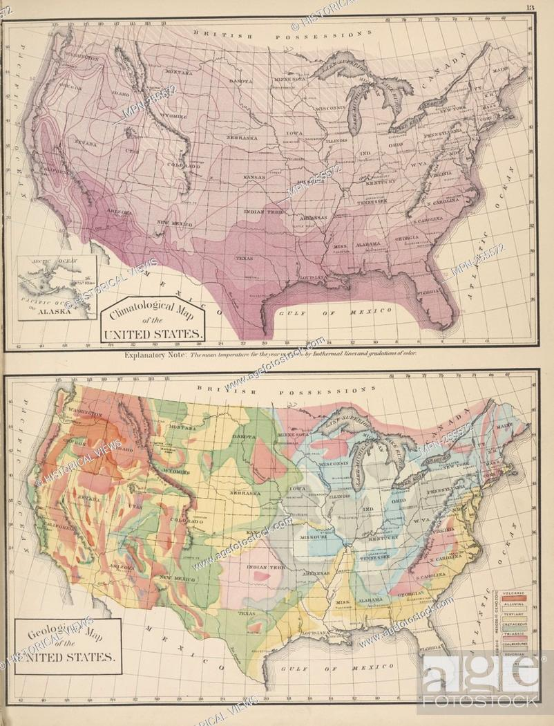Climatological Map of the United States.; Geological Map of ...