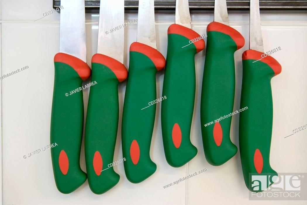 Stock Photo: Knives. Luis Irizar cooking school. Donostia, Gipuzkoa, Basque Country, Spain.