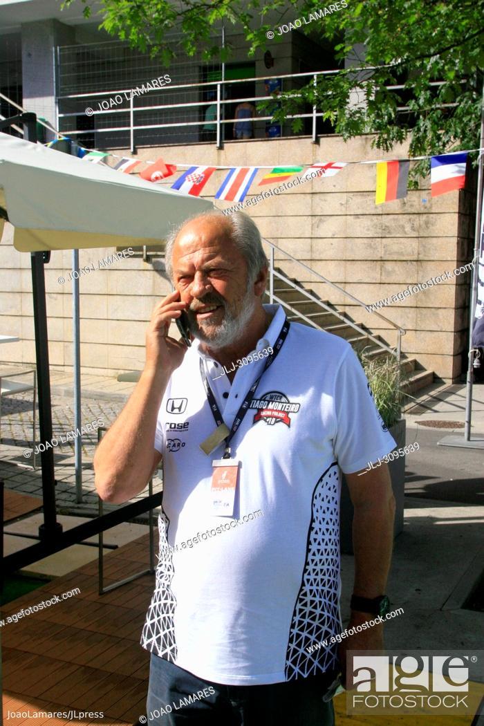 Stock Photo: Edmar Monteiro, Tiago's father, WTCR Race of Portugal, Vila Real 23-25 de June 2018.