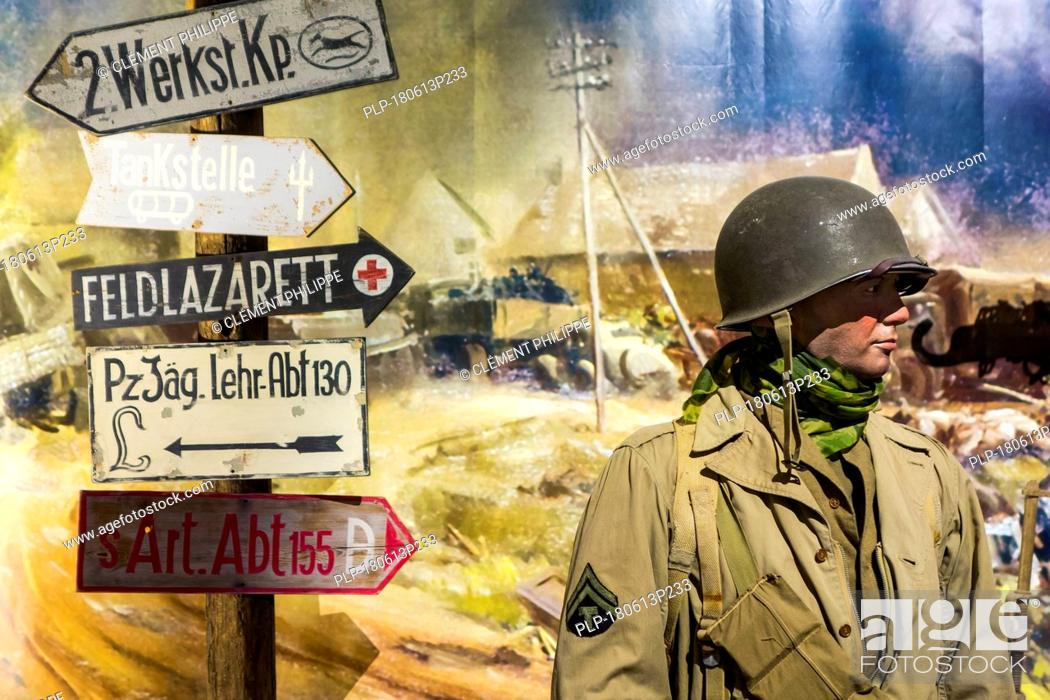 Diorama With American Wwii Soldier In The Overlord Museum Near Omaha Beach About Ww2 Allied Landing Stock Photo Picture And Rights Managed Image Pic Plp 180613p233 Agefotostock