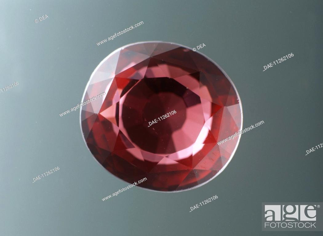 Stock Photo: Gems - Silicates - Garnet - Almandine.