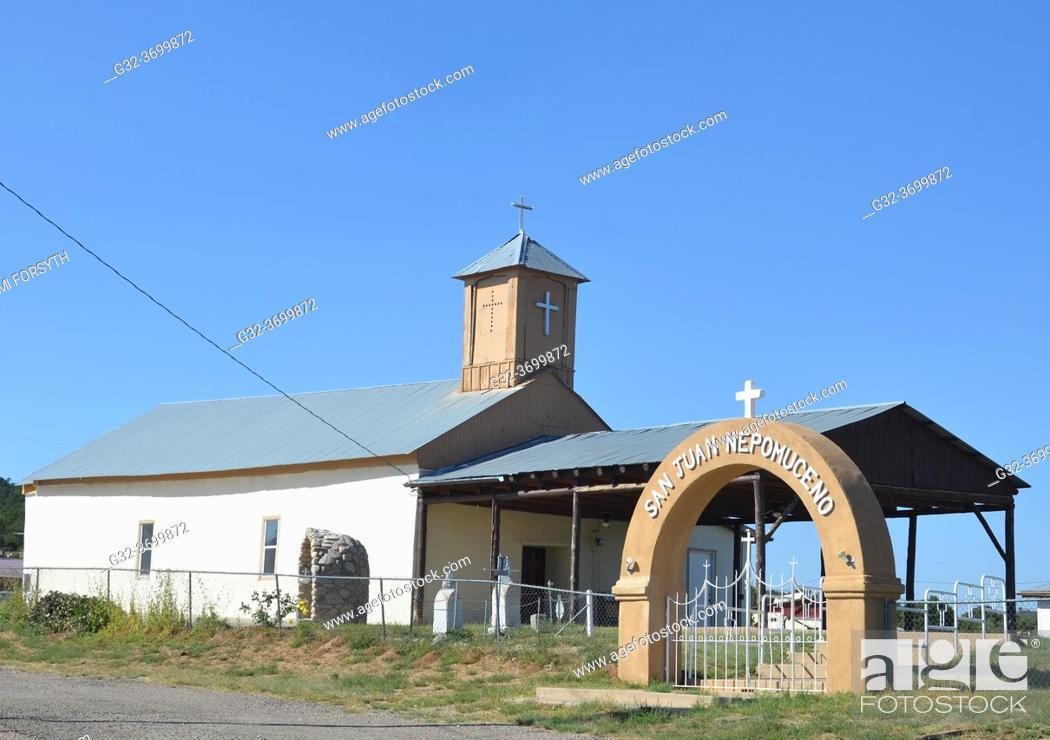 Imagen: San Juan de Nepomuceno church, Chilili, New Mexico (land grant).