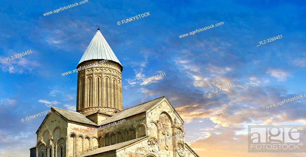 Stock Photo: Pictures & images of the medieval Alaverdi St George Cathedral & monastery complex, 11th century, near Telavi, Georgia (country).