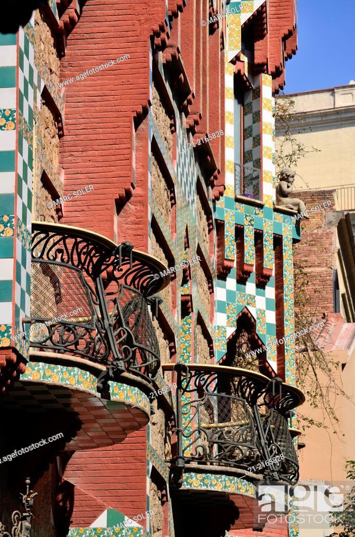 Photo de stock: Casa Vicens 1878-1880 designed by Antoni Gaudi. UNESCO World Heritage Site. Gràcia quarter, Barcelona, Catalonia, Spain.