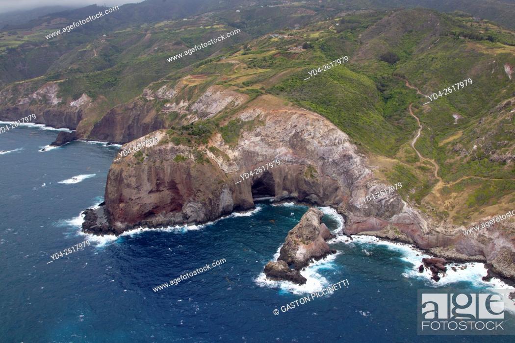 Stock Photo: Aerial View of Maui Island, Hawaii, USA.