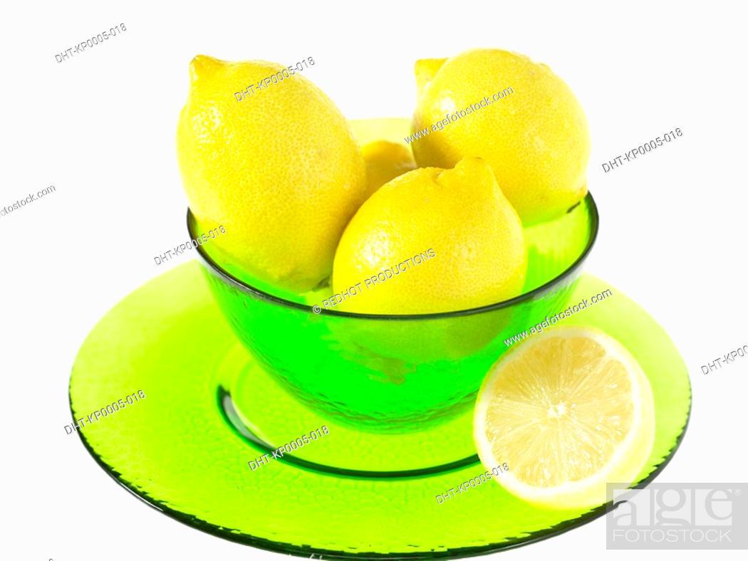Stock Photo: Bowl of Lemons.
