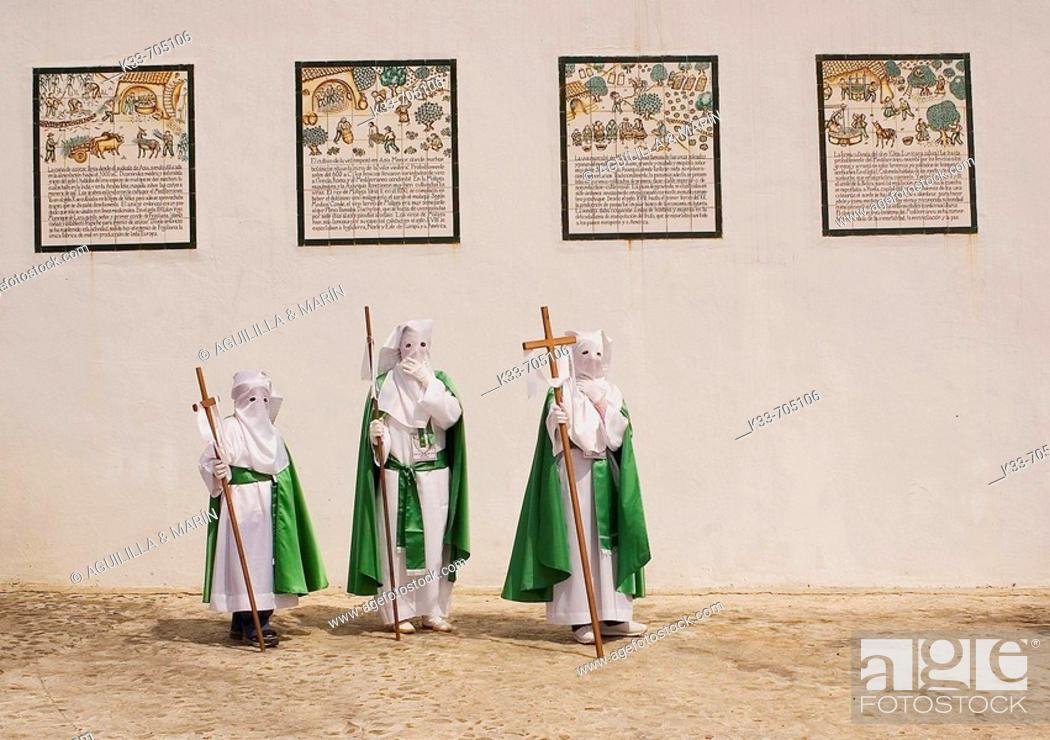 Stock Photo: Holy Week. Frigiliana. Malaga, Andalusie, Spain.