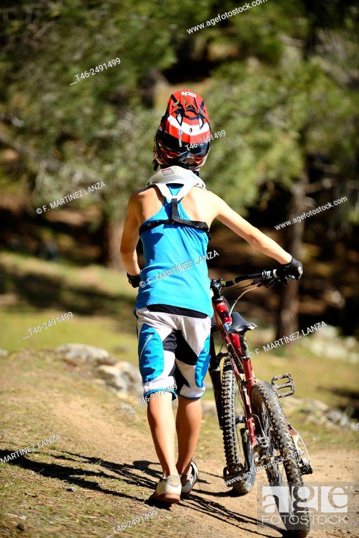 Stock Photo: BIKE DOWNHILL CYCLING ENDURO.