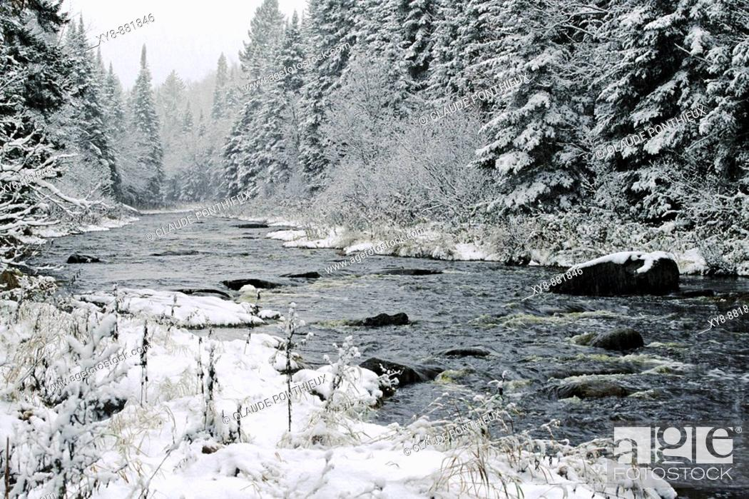 Stock Photo: River-and-Snow.