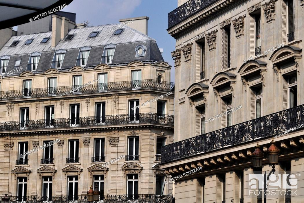 Stock Photo: Paris, France, palaces near the Louvre.