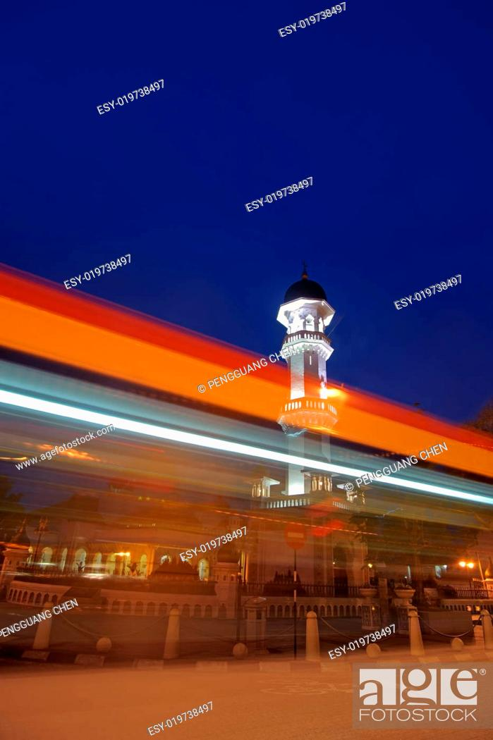 Stock Photo: Colorful city night.