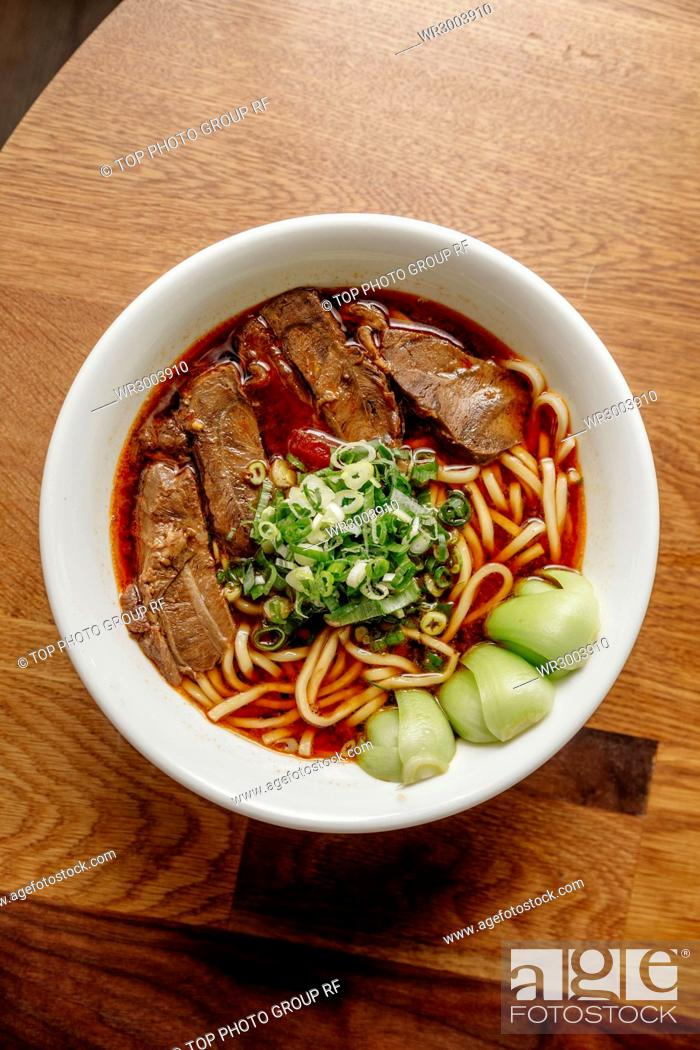 Stock Photo: beef noodles.