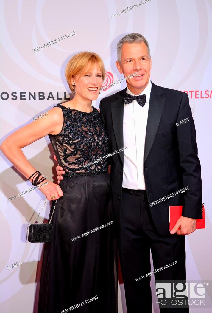 Carol And Peter Kloeppel At Rosenball At Hotel Interconti Stock