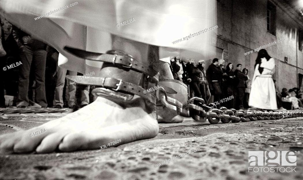 Stock Photo: Corella procession during Holy Week  Navarre  Spain.