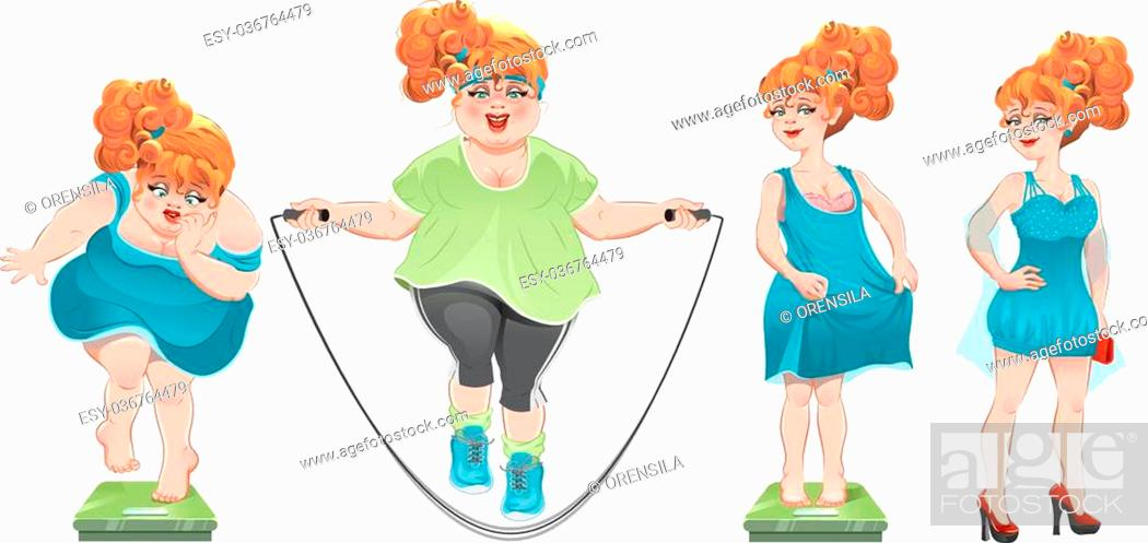 She Lost Weight Set Weight Loss Woman Before After Isolated Cartoon Illustration Stock Vector Vector And Low Budget Royalty Free Image Pic Esy 036764479 Agefotostock