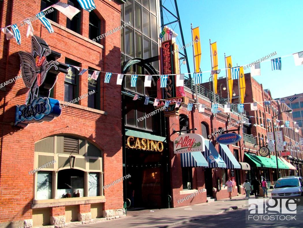Detroit Mi Michigan Motor City Downtown Historic Greektown
