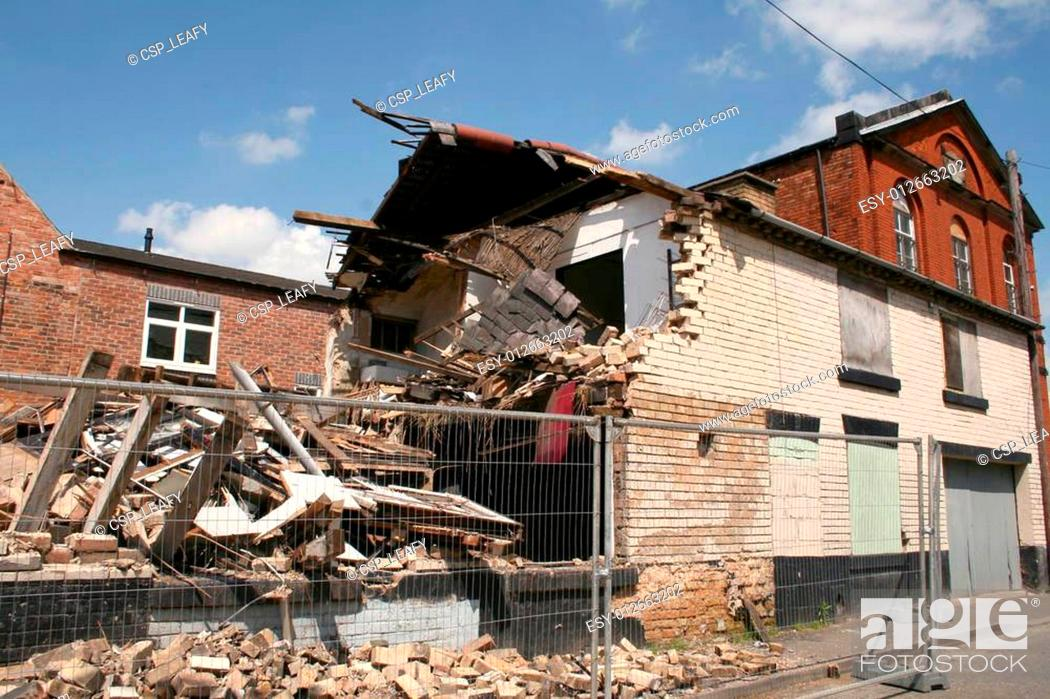 Stock Photo: collapsed building.
