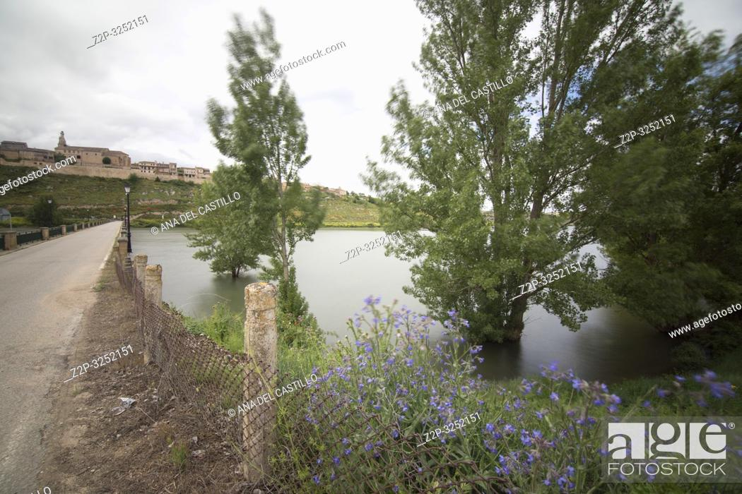 Stock Photo: Reservoir in Maderuelo is an ancient village in Segovia province Castile Leon Spain.