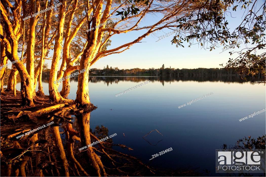 Stock Photo: Lake Aisnsworth, Lennox Head, NSW, Australia.