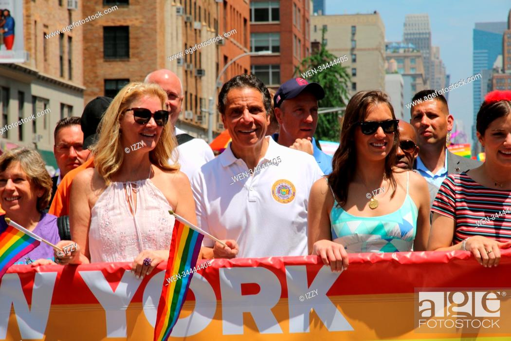 Stock Photo: 2018 New York City Pride Parade Featuring: Sandra Lee, Governor Andrew M. Cuomo, daughters Where: New York, New York, United States When: 24 Jun 2018 Credit:.