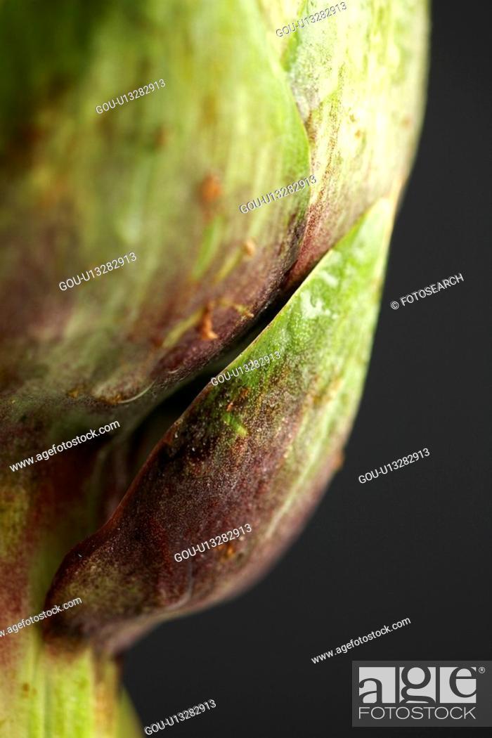 Stock Photo: Artichoke (extreme close-up).