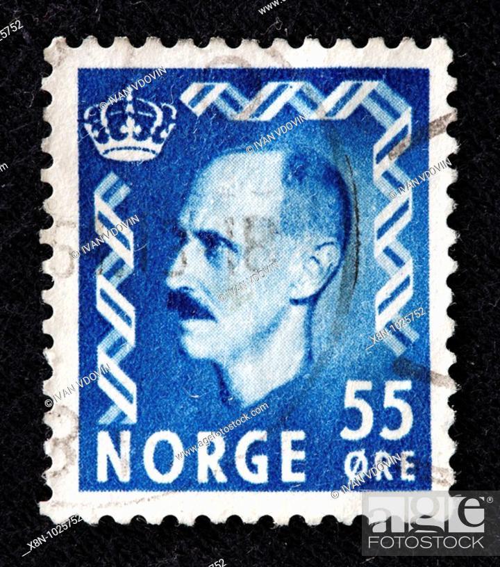 Haakon VII King Of Norway 1905 1957 Postage Stamp Stock