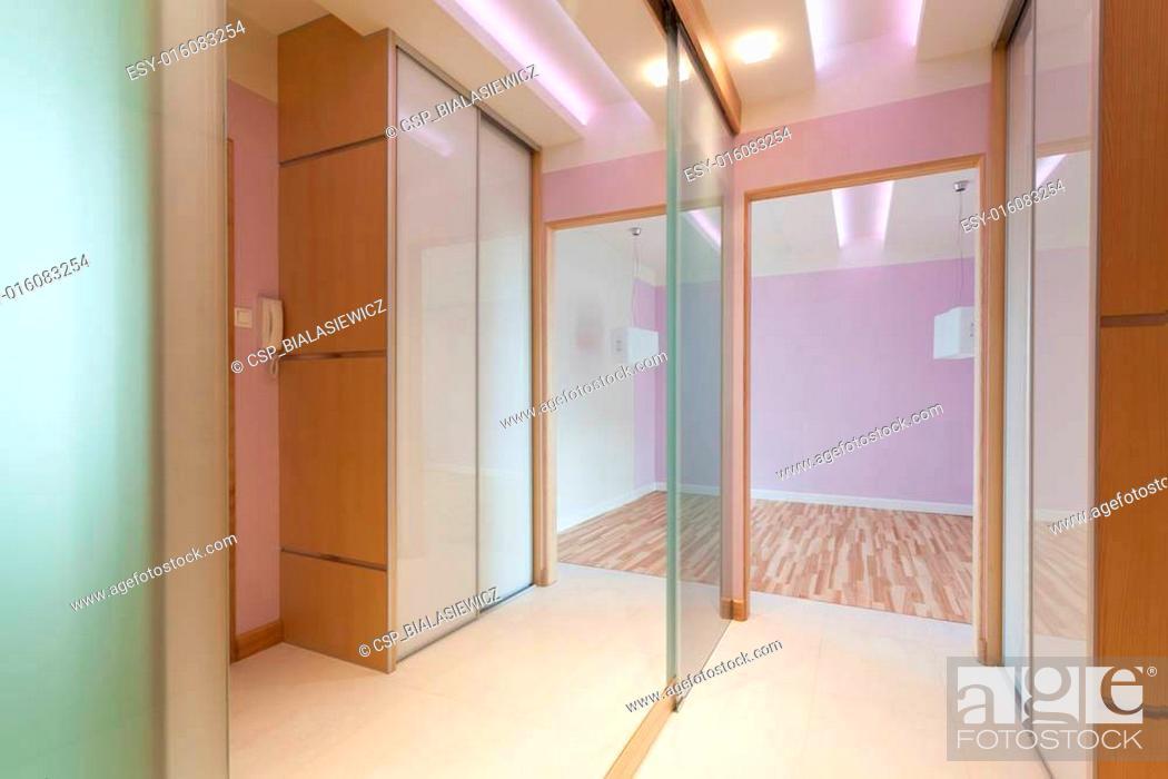 Stock Photo: Anteroom with big mirror.