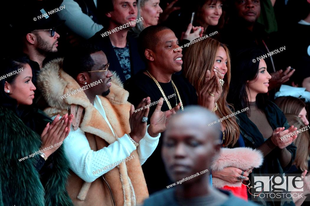 cccfe1289 Stock Photo - Mercedes Benz Fashion Week - Kanye West and Adidas Originals  - Inside Featuring  Cassie