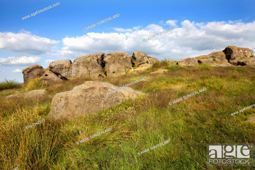 Stock Photo: Little Alms Cliff near Beckwithshaw Harrogate North Yorkshire England.