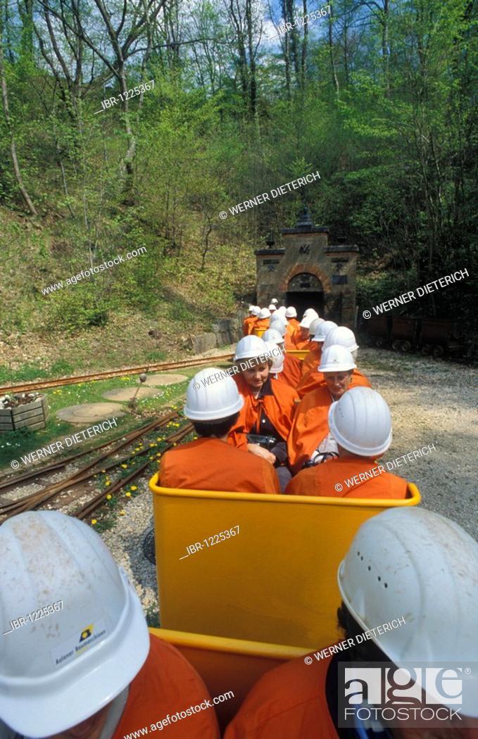 Photo de stock: Tiefer Stollen tourist mine, Aalen, Swabian Alb, Baden-Wuerttemberg, Germany, Europe.