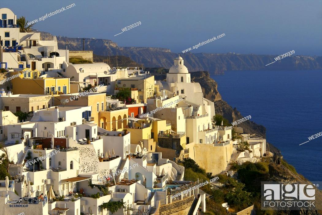 Stock Photo: Greece - Cyclades Islands - Santorini - Oia.....