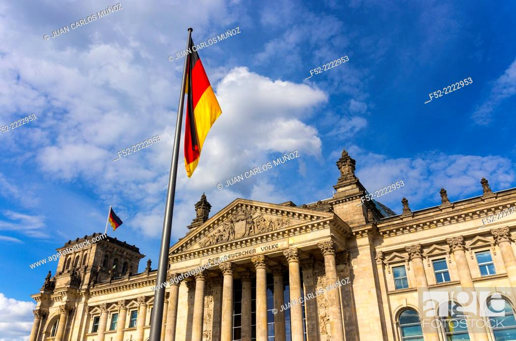 Stock Photo: The Reichstag Building, Berlin, Germany, Europe.
