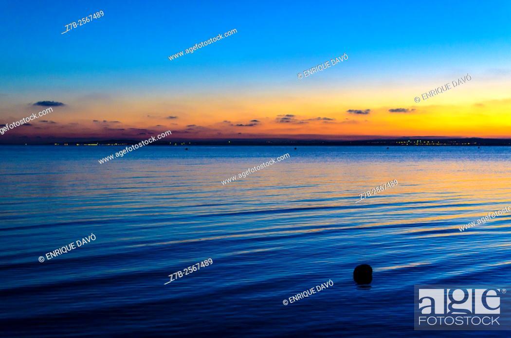 Stock Photo: A Mediterranean sea view in Santa Pola coast, Alicante, Spain.