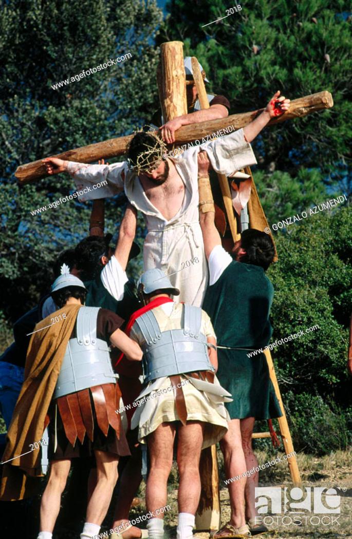 Photo de stock: Holy Week. Alcorisa. Teruel province. Spain.