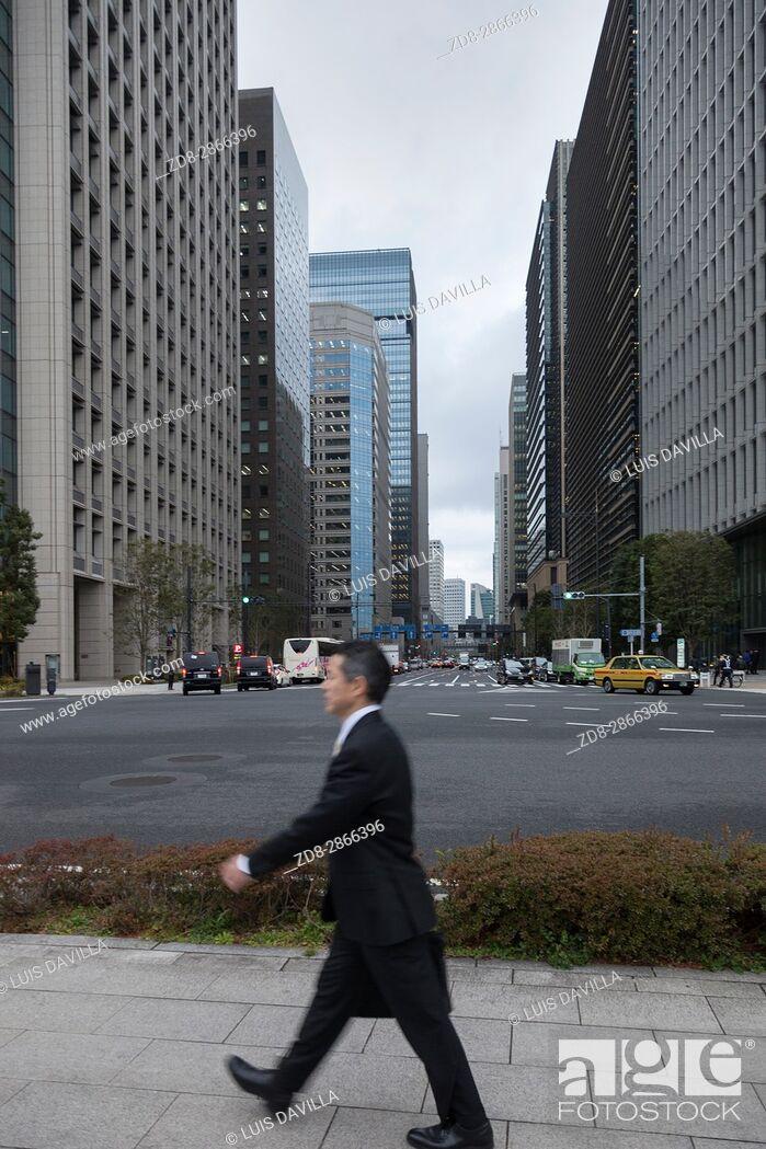 Imagen: Jimbocho Financial district. Tokyo. Japan.