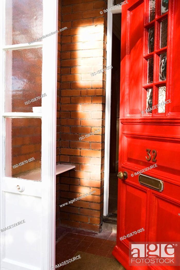 Stock Photo: Open front door.