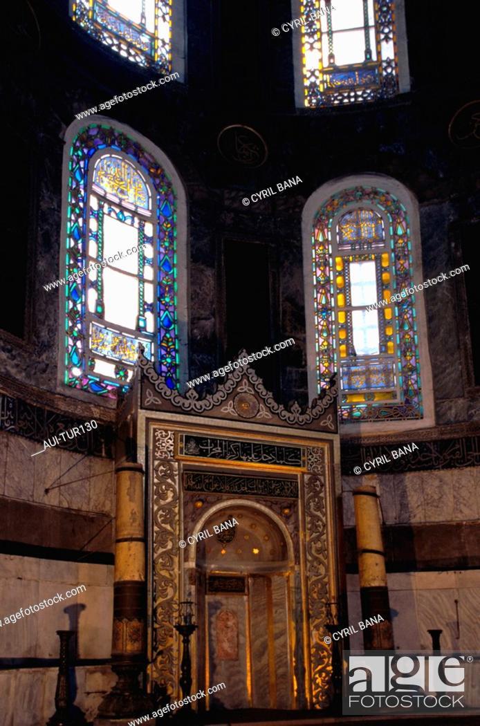 Stock Photo: Turkey - Istanbul - Sultanahmet District - St Sophie Basilica.