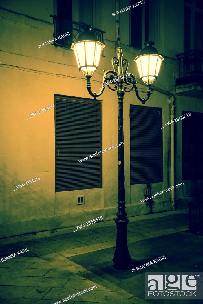 Stock Photo: Street lantern, Montpellier, France.