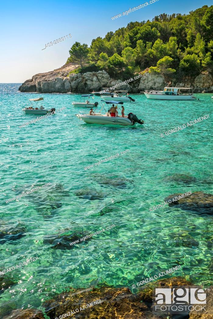 Stock Photo: Cala Escorxada Beach. Minorca. Balearic Islands. Spain.