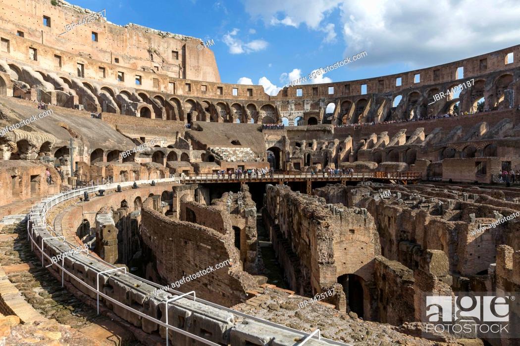 Stock Photo: Colosseum interior, Rome, Lazio, Italy.